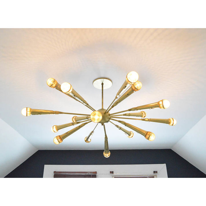 The Golden Microphone Chandelier