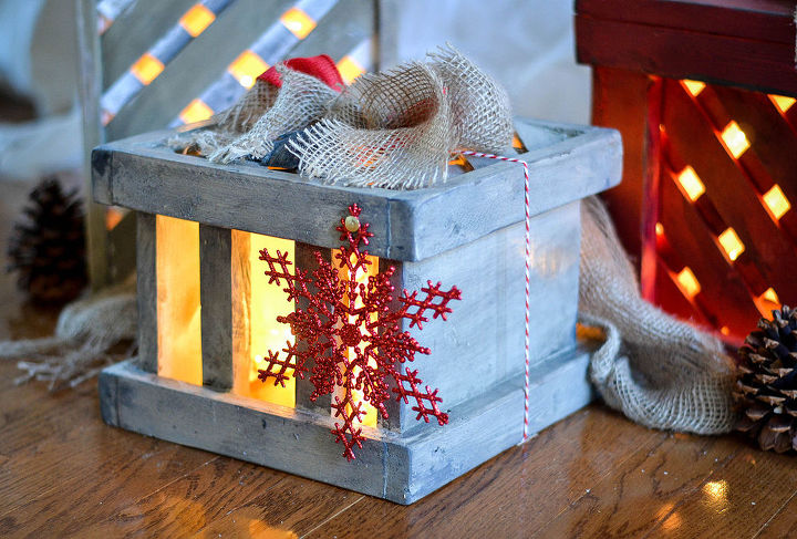 how to make wooden present christmas decorations for the, christmas decorations, crafts, seasonal holiday decor