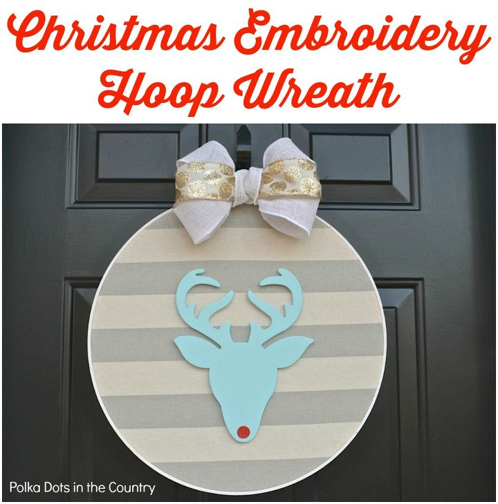christmas embroidery hoop wreath, christmas decorations, crafts, seasonal holiday decor, wreaths