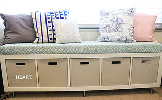 easy and cozy diy window seat bench, diy, home decor