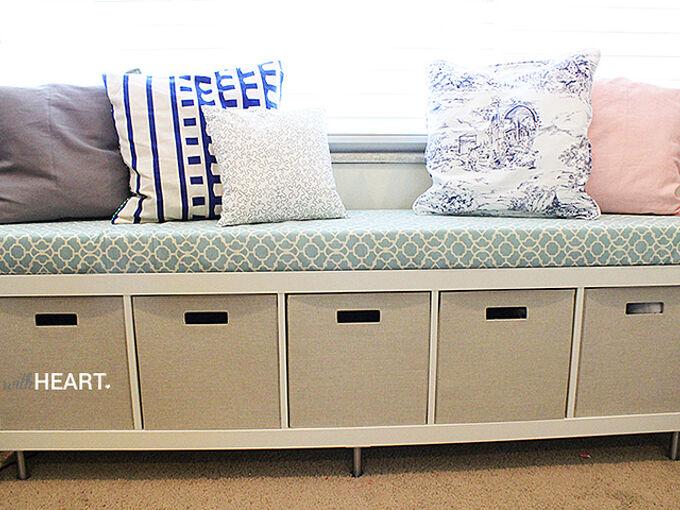 easy and cozy diy window seat bench, diy, home decor