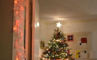 how to make scrap fabric light garland, christmas decorations, lighting, seasonal holiday decor