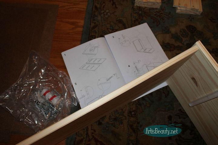 mid century mod ikea rast hack dresser, painted furniture