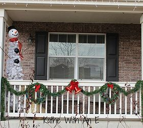 & Front Porch Christmas Decor and How to Make a Snowman Tree | Hometalk