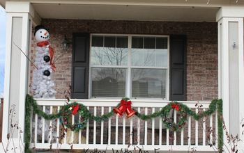 Front Porch Christmas Decor and How to Make a Snowman Tree