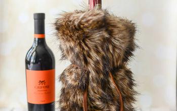 Faux Fur Wine Gift Bag Tutorial