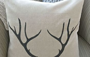 Make Your Own Stenciled Pillow Cover
