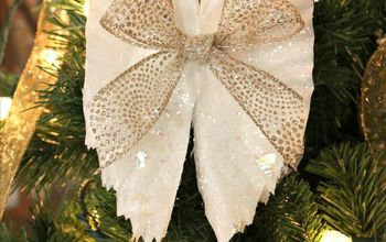 Sparkling Angel Wings Made From Coffee Filters