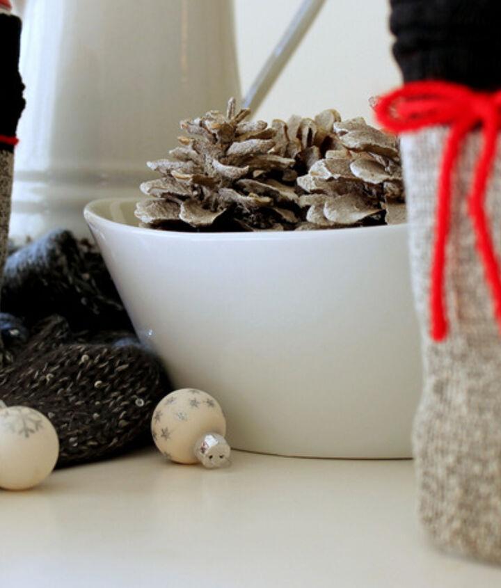 dollar store coffee mug sock cozy how to, crafts, seasonal holiday decor