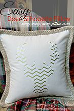 how to make a deer head silhouette pillow, christmas decorations, crafts, seasonal holiday decor