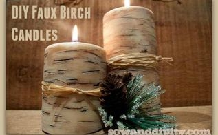 how to make faux birch candles, christmas decorations, crafts, seasonal holiday decor