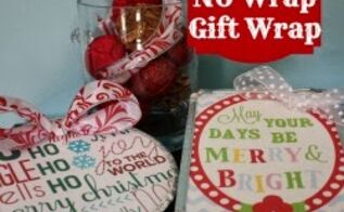 how to wrap gifts with no gift wrap, christmas decorations, crafts, repurposing upcycling