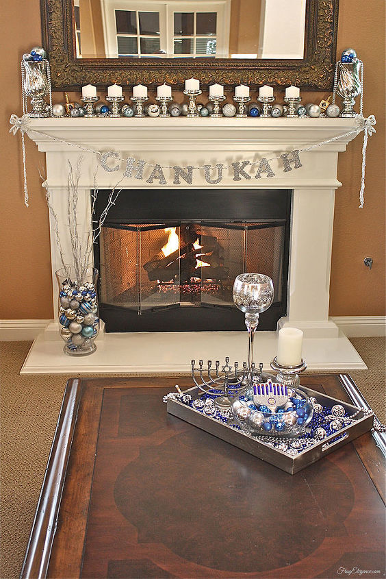 chanukah home decoration idea, seasonal holiday decor