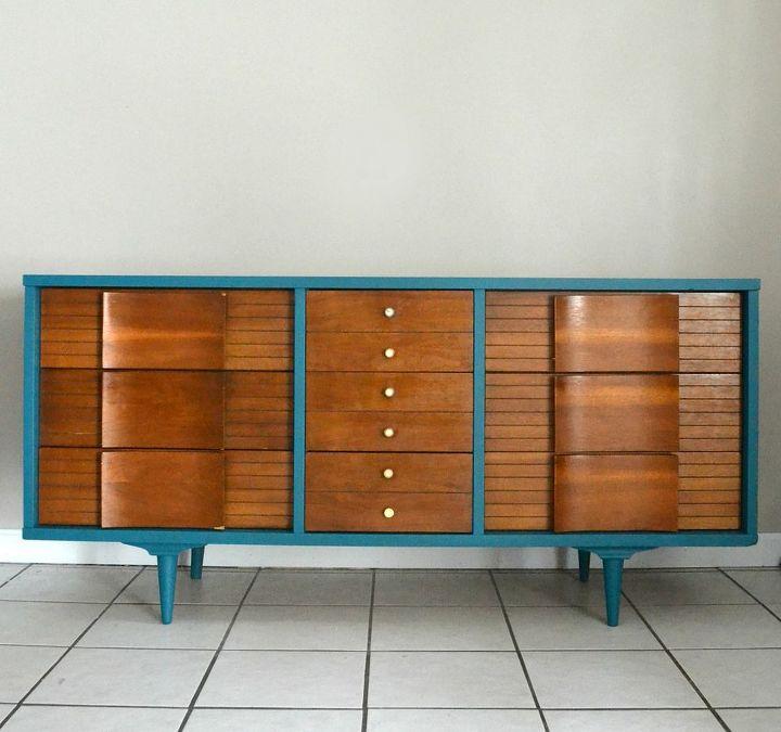 Mid Century Modern Dresser Makeover Painted Furniture