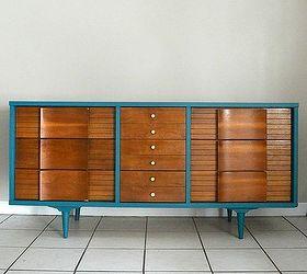 Lovely Mid Century Modern Dresser Makeover, Painted Furniture