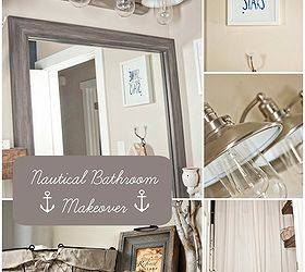 Exceptionnel How To Style A Nautical Bathroom Makeover, Bathroom Ideas, Home Decor,  Painted Furniture