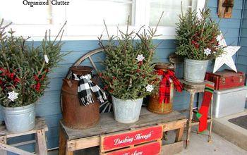 Outdoor Christmas Junk Decorating 2014
