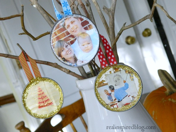 how to make a christmas ornament out of a juice can, christmas decorations, crafts, seasonal holiday decor