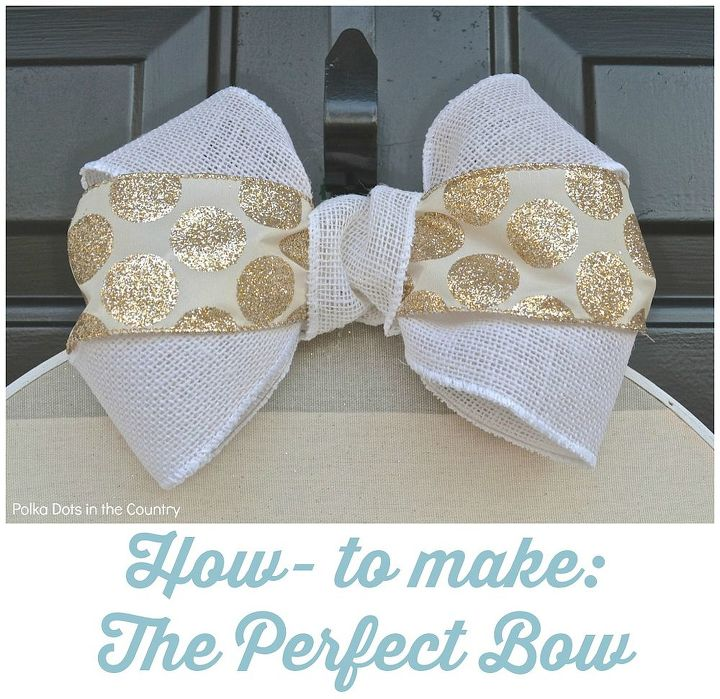 how to make the perfect bow, crafts, diy, how to, seasonal holiday decor