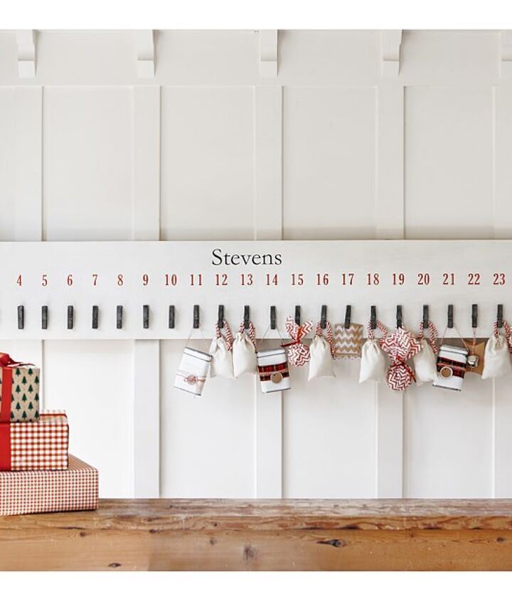 knock off pottery barn advent calendar, christmas decorations, crafts, seasonal holiday decor