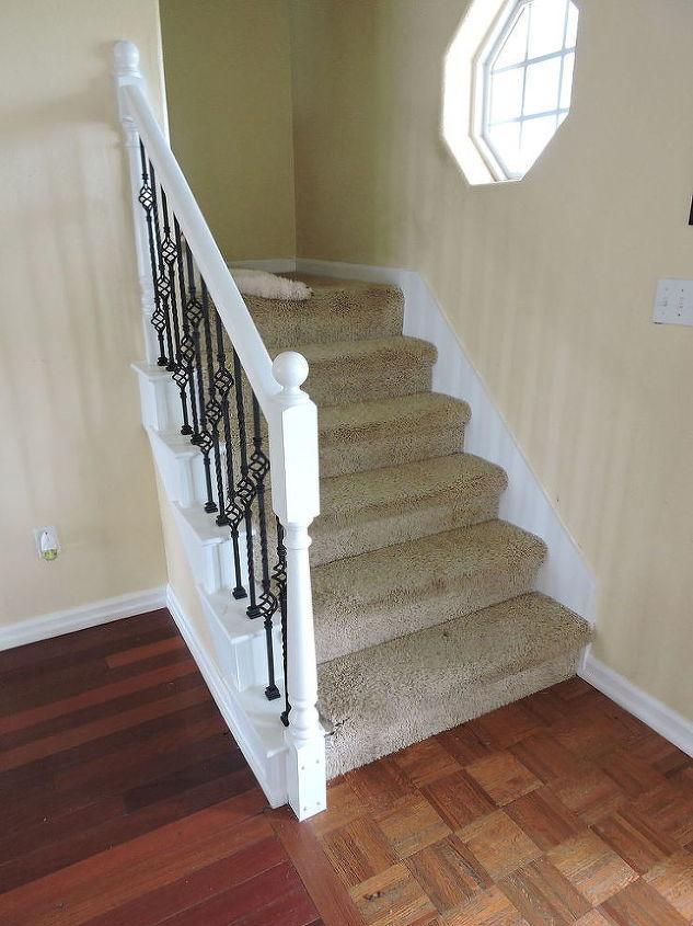 should a handrail match the carpets