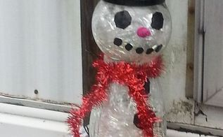 how to make a repurposed glass holiday snowman totem, christmas decorations, crafts, repurposing upcycling, seasonal holiday decor