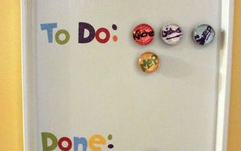 how to make a kids chore chart out of a cookie sheet, crafts
