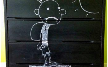 diy dresser chalkboard kids customized, chalkboard paint, painted furniture