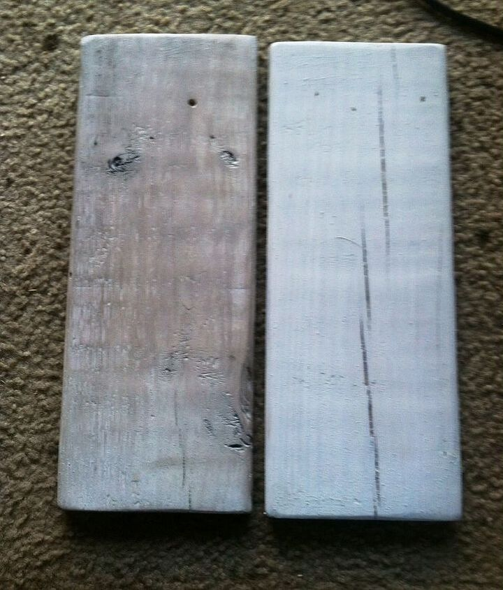Left board has Antiquing Wax rubbed in!