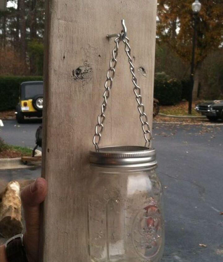 how to make a mason jar and pallet wood candle holder, home decor, mason jars, pallet, repurposing upcycling, wall decor