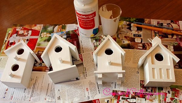 bird house ornaments Christmas Bird House Crafts Crafting