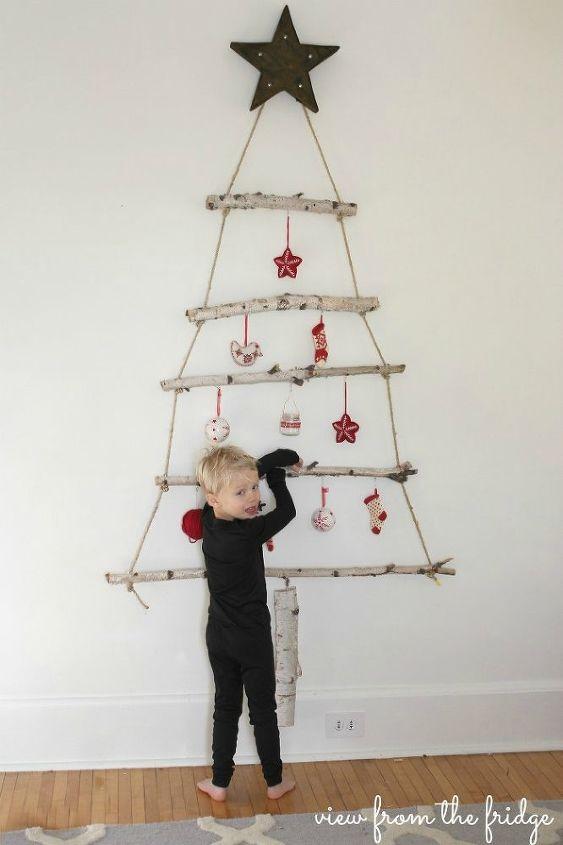 diy birch branch christmas tree christmas decorations repurposing upcycling seasonal holiday decor