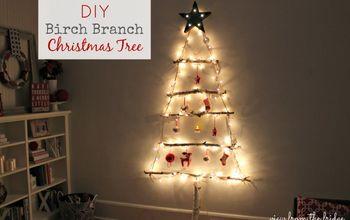 diy birch branch christmas tree, christmas decorations, repurposing upcycling, seasonal holiday decor