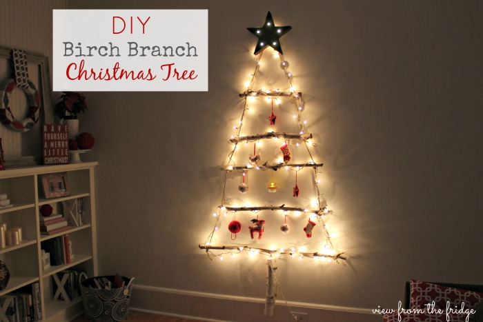 diy birch branch christmas tree christmas decorations repurposing upcycling seasonal holiday decor - Birch Christmas Decorations