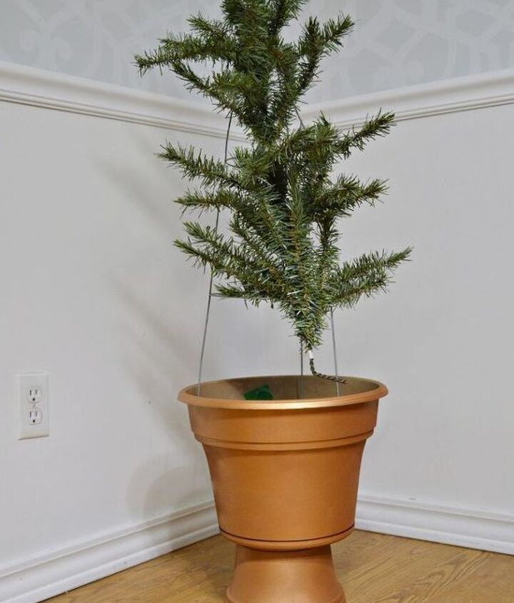 turn your old tree into topiaries, christmas decorations, porches, repurposing upcycling, seasonal holiday decor