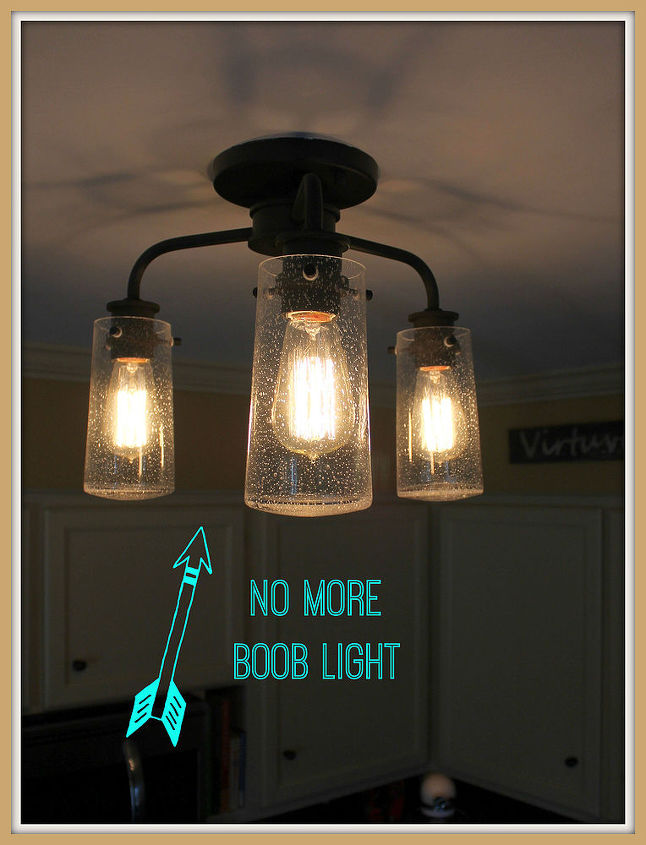 Vintage style kitchen lighting update buh bye boob light light vintage style kitchen lighting update buh bye boob light diy electrical home decor workwithnaturefo