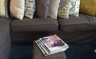 recycling a shipping box, diy, living room ideas, repurposing upcycling, reupholster