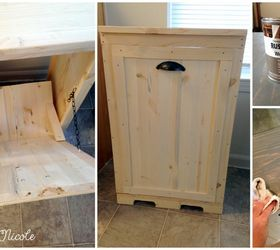 hide your ugly trash can with this brilliant fix diy kitchen design woodworking