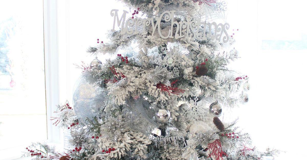 red white silver christmas tree hometalk - White And Silver Christmas Tree