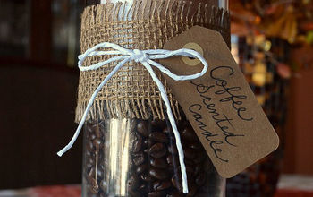 a fragrant aromatic coffee bean scented candle diy gift, crafts