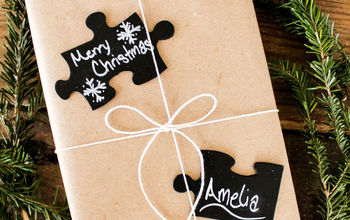 Chalkboard Puzzle Piece Gift Tags