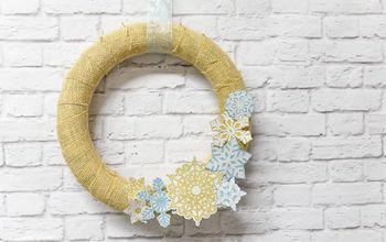 Simple Snowflake Wreath