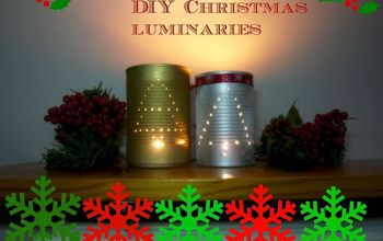 DIY Christmas Luminaries (from a Can)