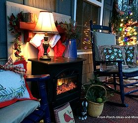 How To Make A Faux Fireplace For Your Porch, Christmas Decorations, Curb  Appeal,