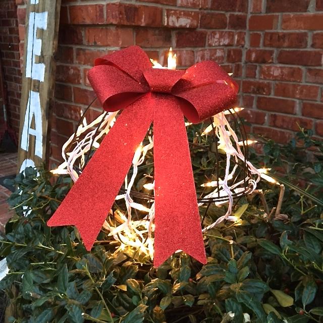 9 hanging planter turned light up ornament, christmas decorations, lighting, repurposing upcycling, seasonal holiday decor