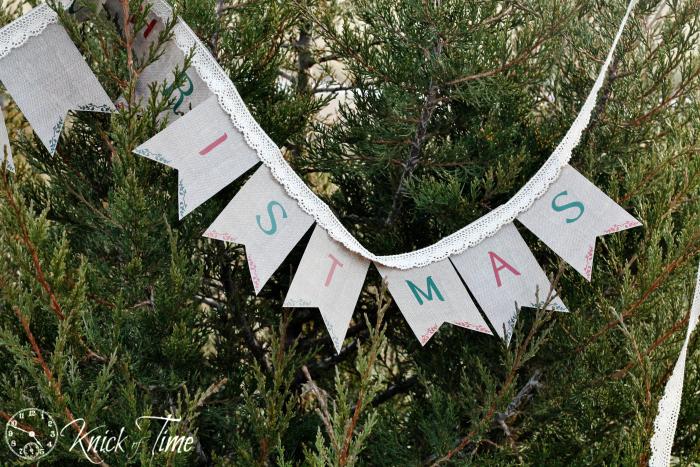 printable burlap banner for christmas, christmas decorations, crafts, seasonal holiday decor