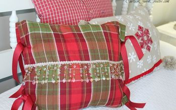 diy christmas pillow slip covers no sew or low sew, christmas decorations, crafts, repurposing upcycling, seasonal holiday decor