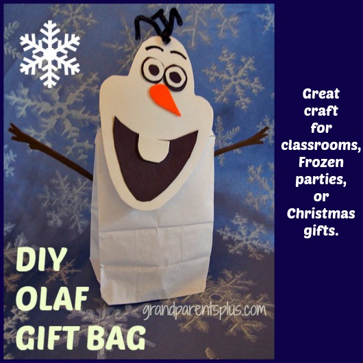 diy olaf gift bag christmas decorations crafts seasonal holiday decor