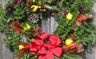 5 ways to dress up a basic evergreen wreath, christmas decorations, crafts, seasonal holiday decor, wreaths