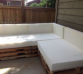 outdoor pallet sectional diy outdoor furniture outdoor living pallet reupholster : diy patio sectional - Sectionals, Sofas & Couches